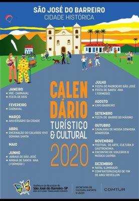 Calendario Turistico SaoJosedoBarreiro 2020
